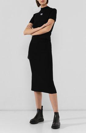 Женская юбка ALEXANDERWANG.T черного цвета, арт. 4KC2195000   Фото 2