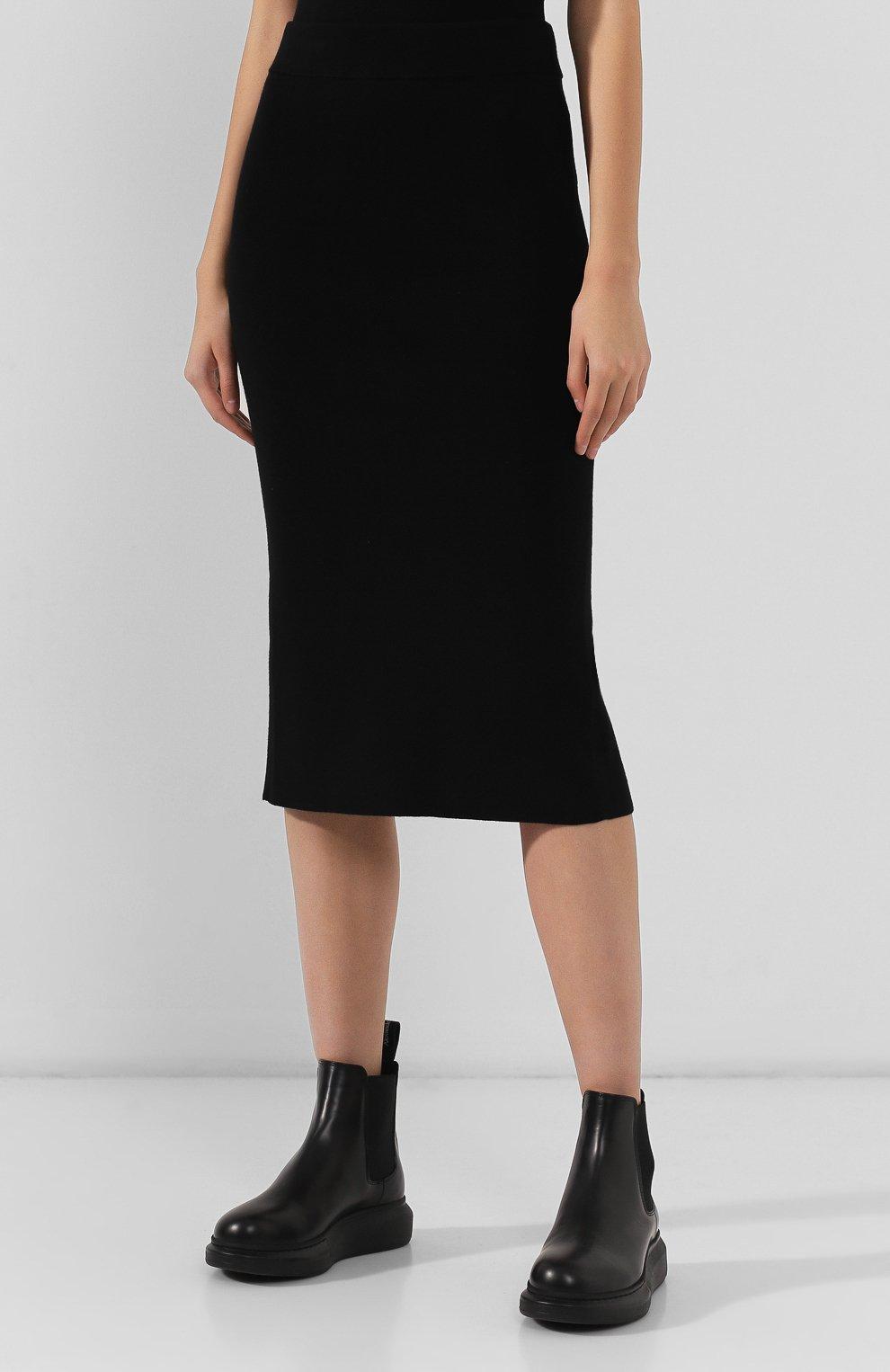 Женская юбка ALEXANDERWANG.T черного цвета, арт. 4KC2195000   Фото 3