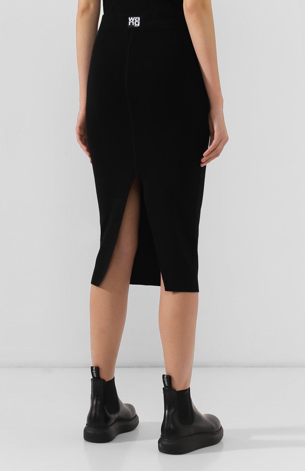 Женская юбка ALEXANDERWANG.T черного цвета, арт. 4KC2195000   Фото 4
