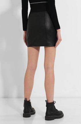 Женская кожаная юбка ALEXANDER WANG черного цвета, арт. 1WC2195079   Фото 4