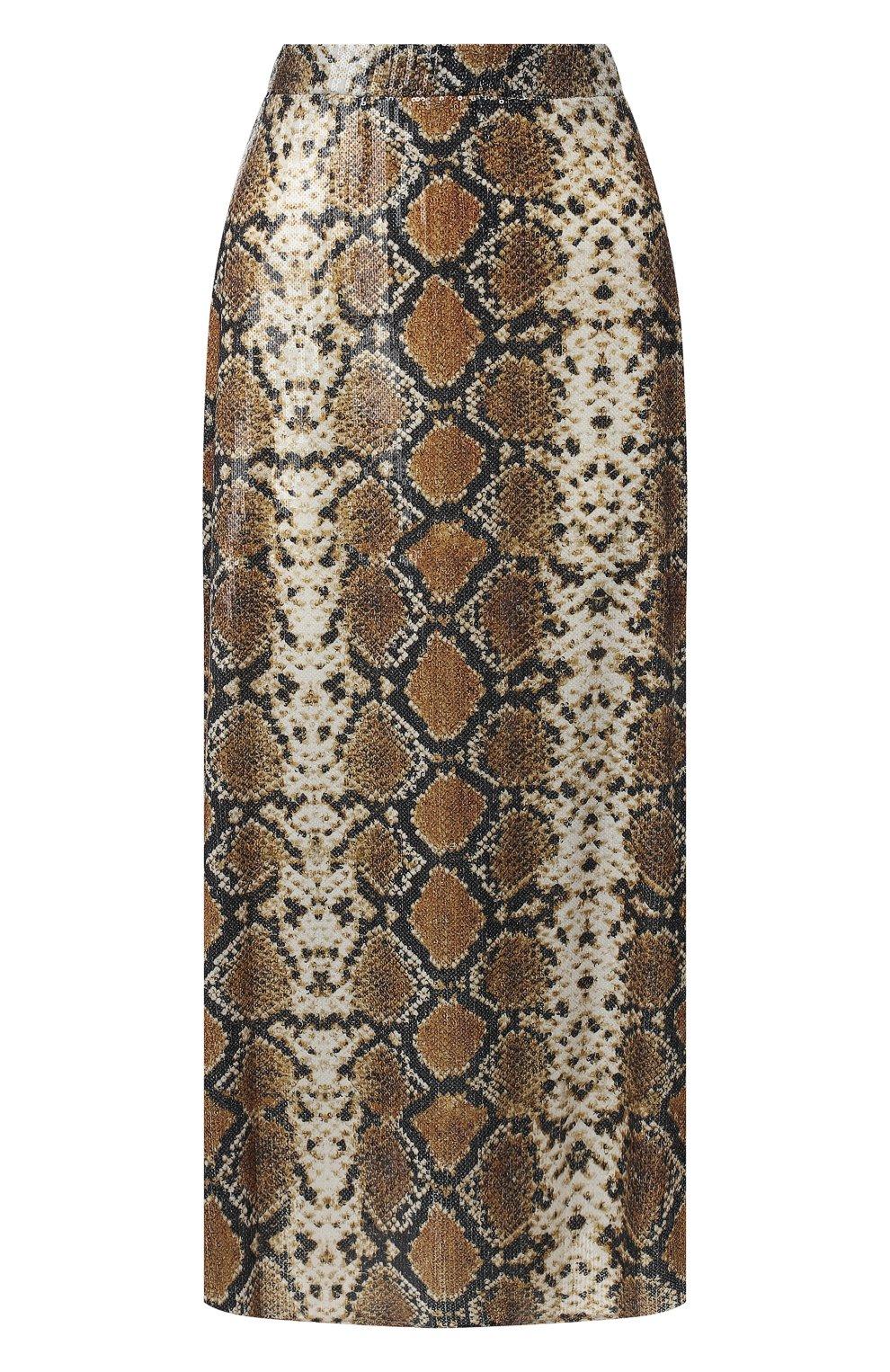 Женская юбка с принтом IN THE MOOD FOR LOVE серого цвета, арт. THE KATE SKIRT | Фото 1