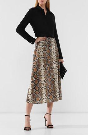 Женская юбка с принтом IN THE MOOD FOR LOVE серого цвета, арт. THE KATE SKIRT | Фото 2