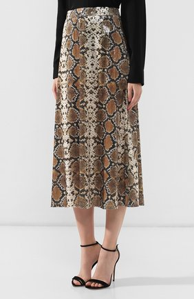 Женская юбка с принтом IN THE MOOD FOR LOVE серого цвета, арт. THE KATE SKIRT | Фото 3