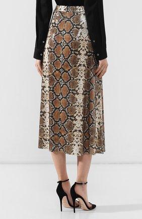 Женская юбка с принтом IN THE MOOD FOR LOVE серого цвета, арт. THE KATE SKIRT | Фото 4