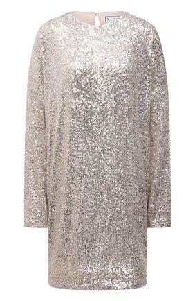 Женское платье с пайетками IN THE MOOD FOR LOVE серебряного цвета, арт. ALEXANDRA DRESS | Фото 1