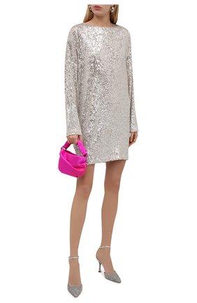 Женское платье с пайетками IN THE MOOD FOR LOVE серебряного цвета, арт. ALEXANDRA DRESS | Фото 2