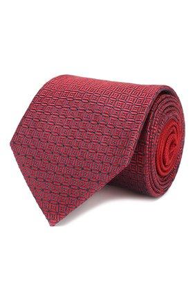 Мужской шелковый галстук ERMENEGILDO ZEGNA красного цвета, арт. Z6F06/1US | Фото 1