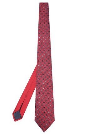 Мужской шелковый галстук ERMENEGILDO ZEGNA красного цвета, арт. Z6F06/1US | Фото 2