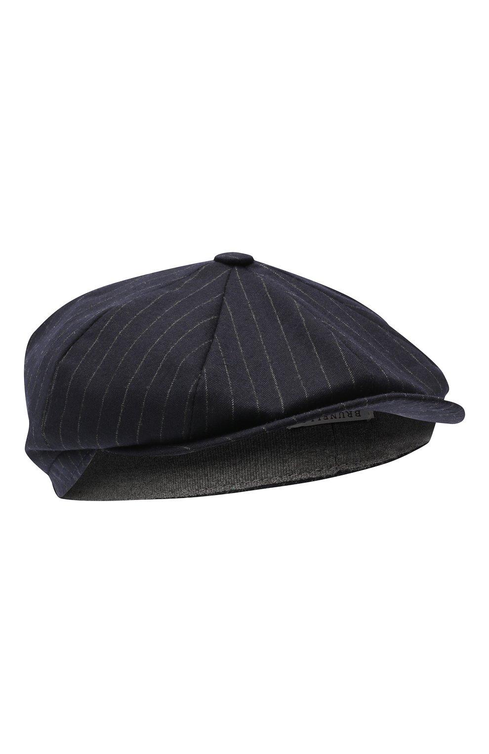 Мужская шерстяное кепи BRUNELLO CUCINELLI темно-синего цвета, арт. ML4219945 | Фото 1
