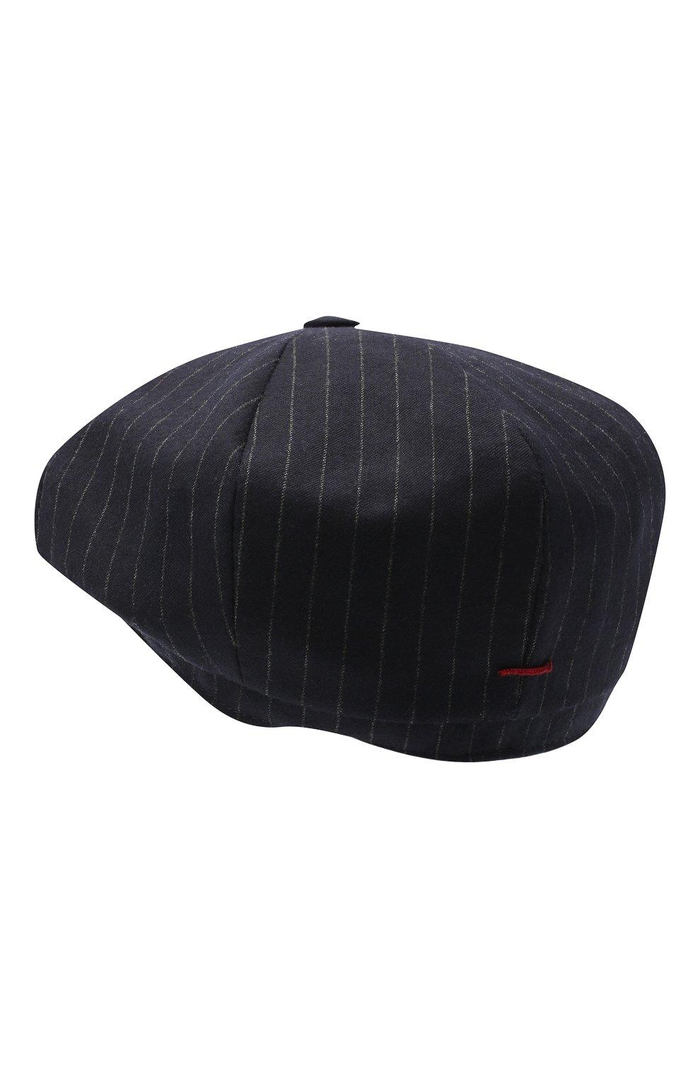 Мужская шерстяное кепи BRUNELLO CUCINELLI темно-синего цвета, арт. ML4219945 | Фото 2