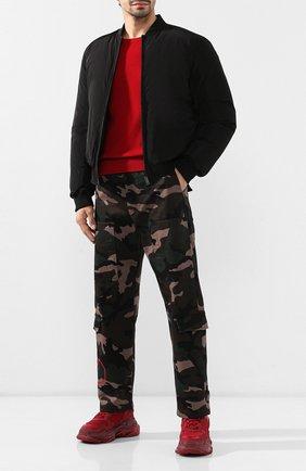 Мужские комбинированные кроссовки triple s BALENCIAGA красного цвета, арт. 541624/W0901 | Фото 2