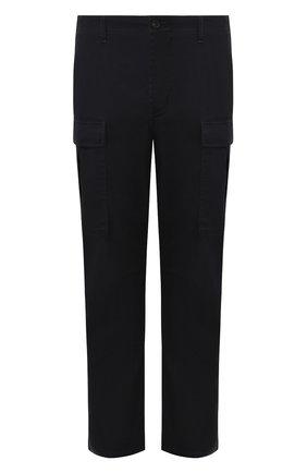 Мужской хлопковые брюки BALENCIAGA темно-синего цвета, арт. 557301/TDP09 | Фото 1