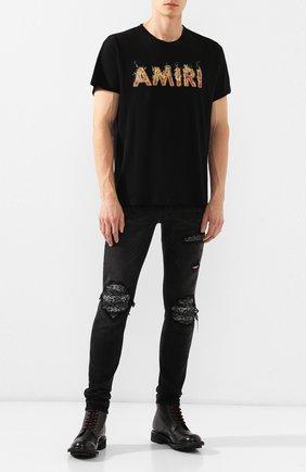 Мужские джинсы AMIRI черного цвета, арт. F9M01124SD | Фото 2