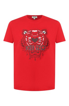 Мужская хлопковая футболка KENZO красного цвета, арт. F965TS0504YA | Фото 1
