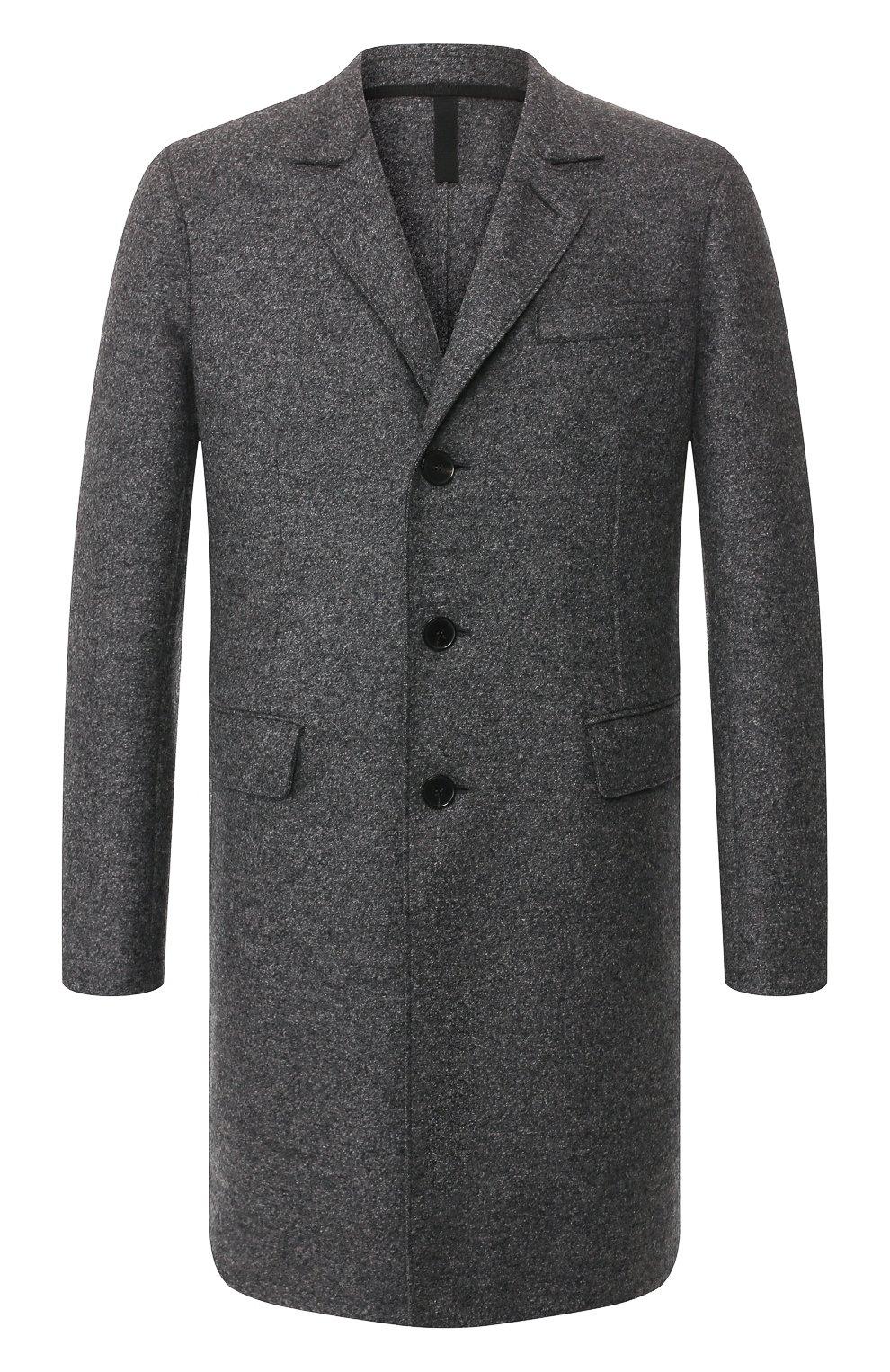 Мужской шерстяное пальто HARRIS WHARF LONDON темно-серого цвета, арт. C9113MLK   Фото 1