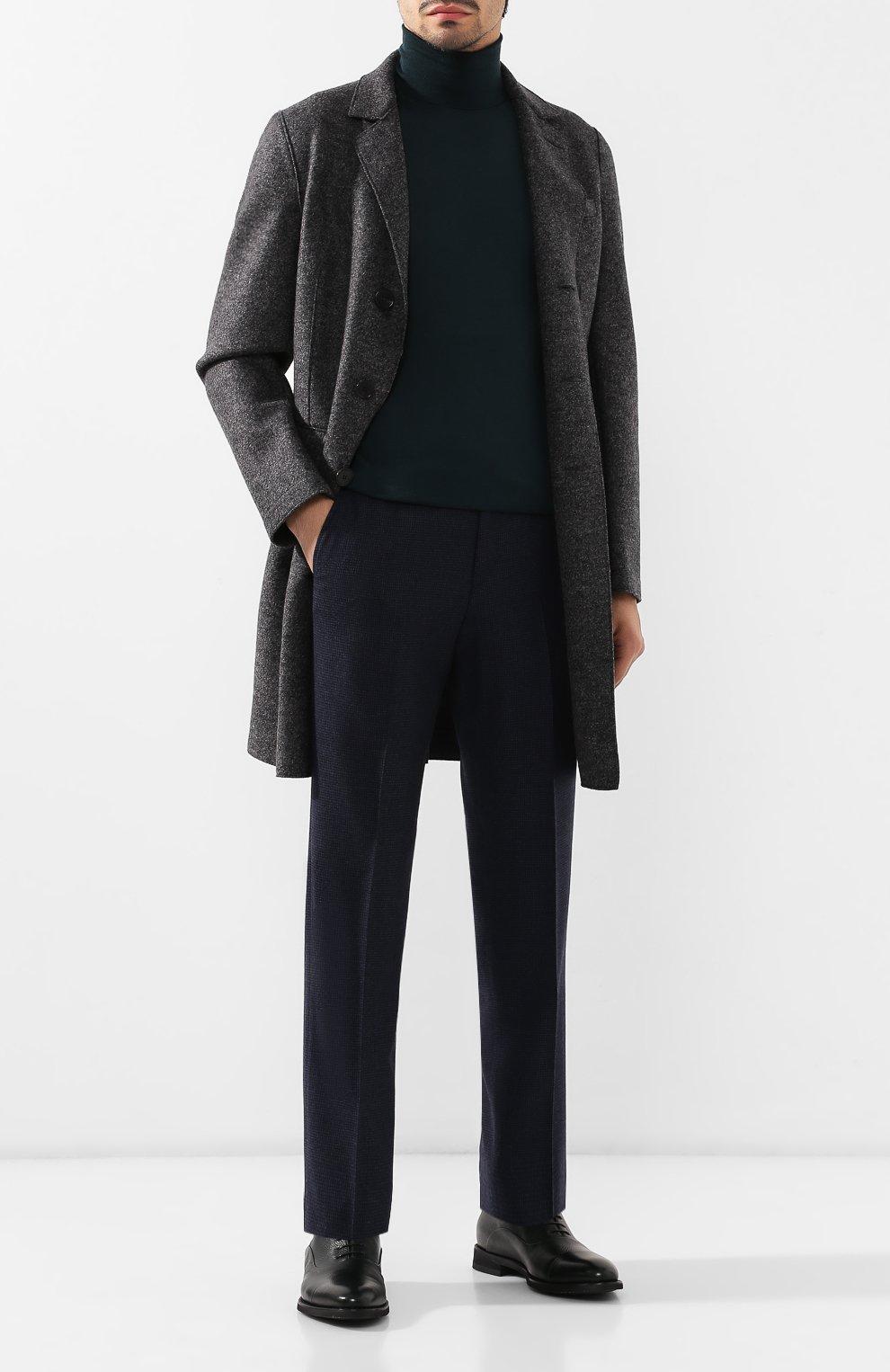 Мужской шерстяное пальто HARRIS WHARF LONDON темно-серого цвета, арт. C9113MLK   Фото 2