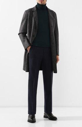 Мужской шерстяное пальто HARRIS WHARF LONDON темно-серого цвета, арт. C9113MLK | Фото 2 (Статус проверки: Проверено, Проверена категория; Рукава: Длинные; Материал внешний: Шерсть; Мужское Кросс-КТ: Верхняя одежда, пальто-верхняя одежда; Стили: Классический; Длина (верхняя одежда): До середины бедра)