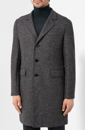 Мужской шерстяное пальто HARRIS WHARF LONDON темно-серого цвета, арт. C9113MLK   Фото 3