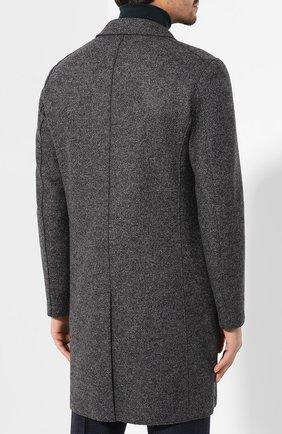 Мужской шерстяное пальто HARRIS WHARF LONDON темно-серого цвета, арт. C9113MLK   Фото 4