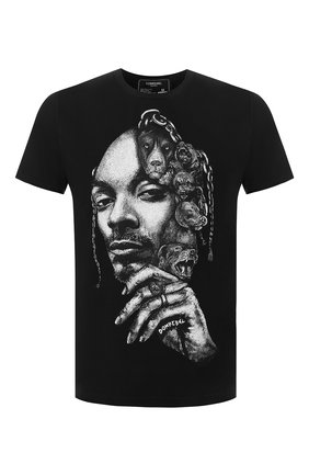 Мужская хлопковая футболка DOM REBEL черного цвета, арт. CALVIN/T-SHIRT | Фото 1