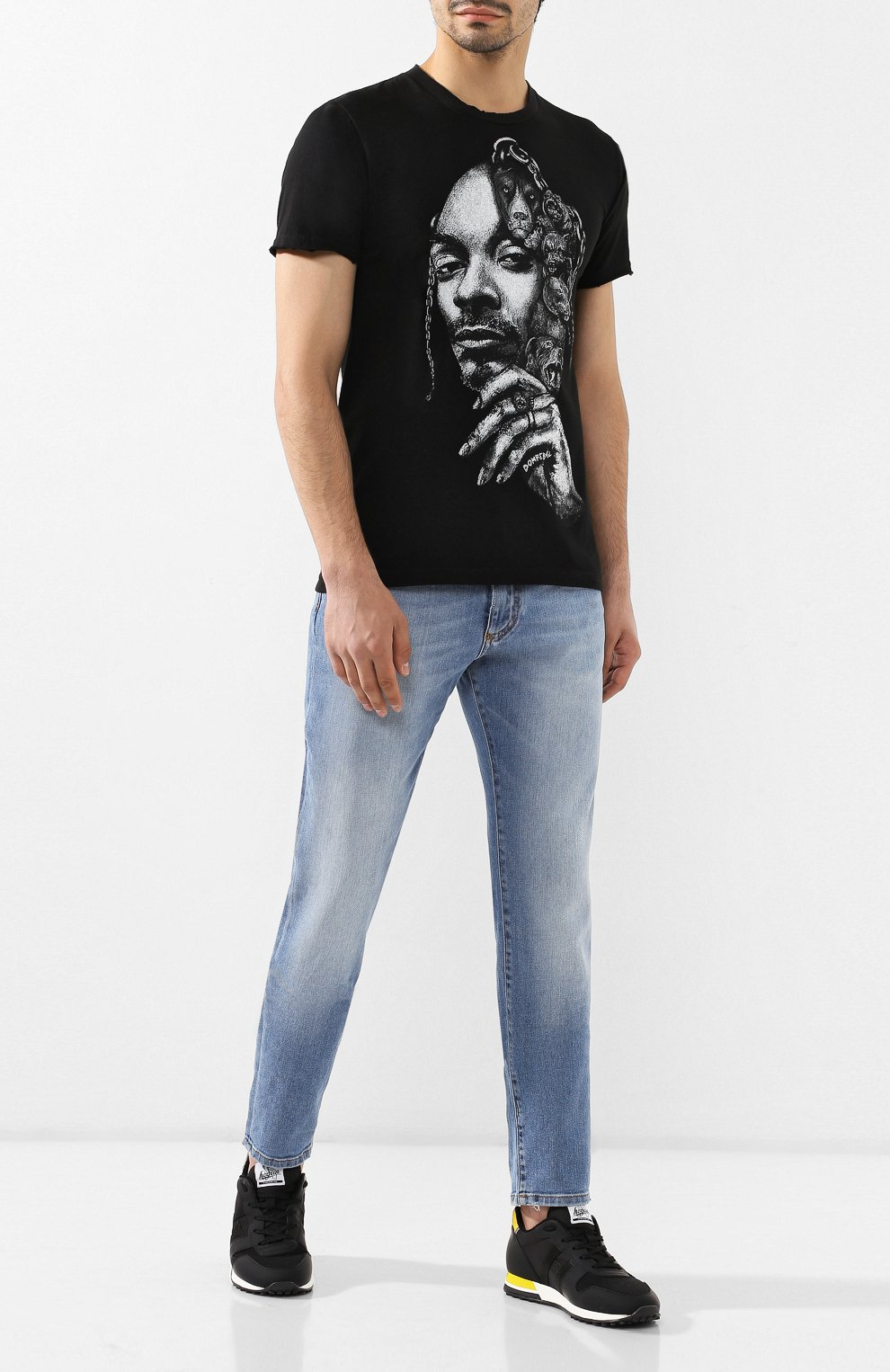 Мужская хлопковая футболка DOM REBEL черного цвета, арт. CALVIN/T-SHIRT | Фото 2