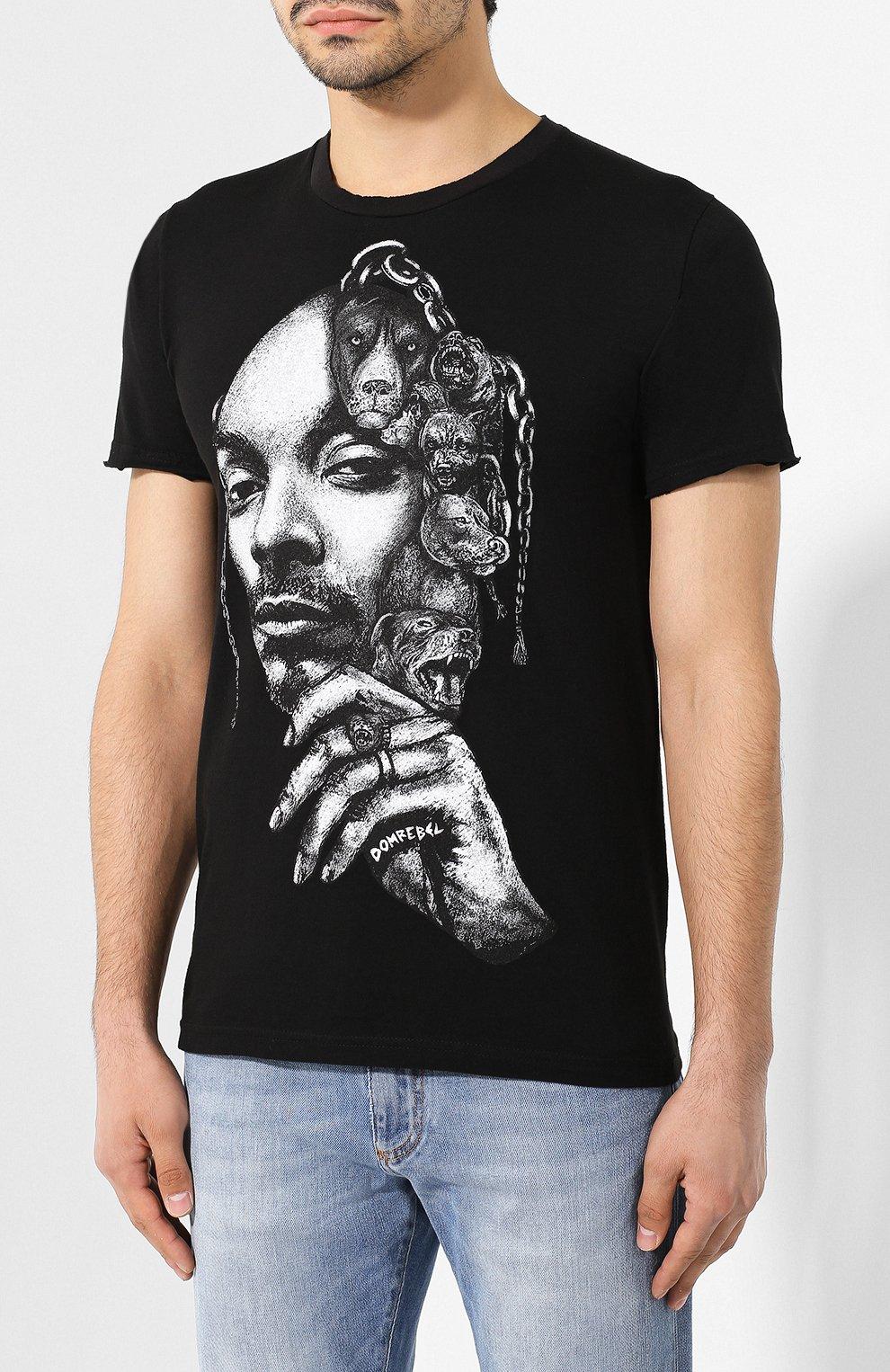 Мужская хлопковая футболка DOM REBEL черного цвета, арт. CALVIN/T-SHIRT | Фото 3