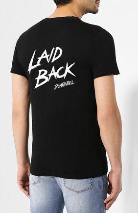 Мужская хлопковая футболка DOM REBEL черного цвета, арт. CALVIN/T-SHIRT | Фото 4