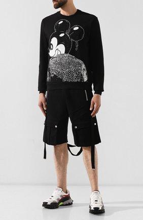 Мужской хлопковый свитшот DOM REBEL черного цвета, арт. MICK/SWEATSHIRT | Фото 2