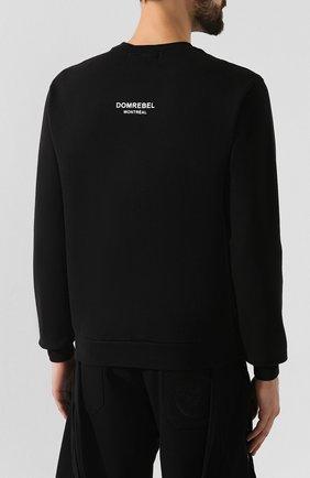Мужской хлопковый свитшот DOM REBEL черного цвета, арт. MICK/SWEATSHIRT | Фото 4