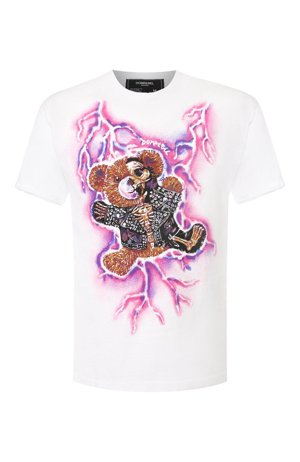 Мужская хлопковая футболка DOM REBEL белого цвета, арт. ZAPPED/T-SHIRT | Фото 1