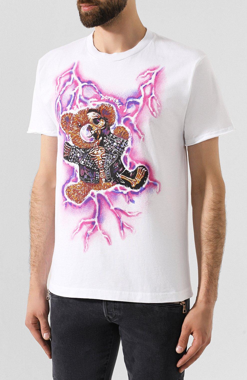 Мужская хлопковая футболка DOM REBEL белого цвета, арт. ZAPPED/T-SHIRT | Фото 3