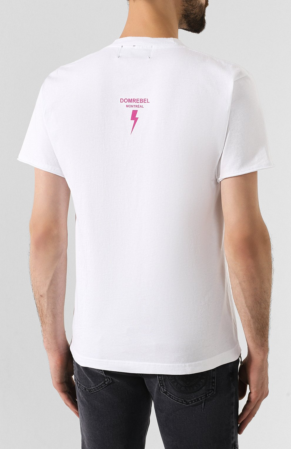 Мужская хлопковая футболка DOM REBEL белого цвета, арт. ZAPPED/T-SHIRT | Фото 4