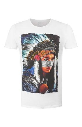 Мужская хлопковая футболка BISIBIGLIO белого цвета, арт. INDIAN ART   Фото 1