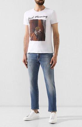 Мужская хлопковая футболка BISIBIGLIO белого цвета, арт. M0RNING C0FFEE   Фото 2