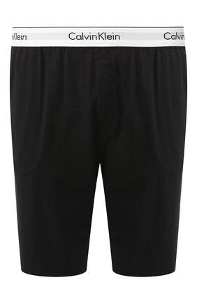 Мужские хлопковые шорты CALVIN KLEIN черного цвета, арт. NM1593E | Фото 1