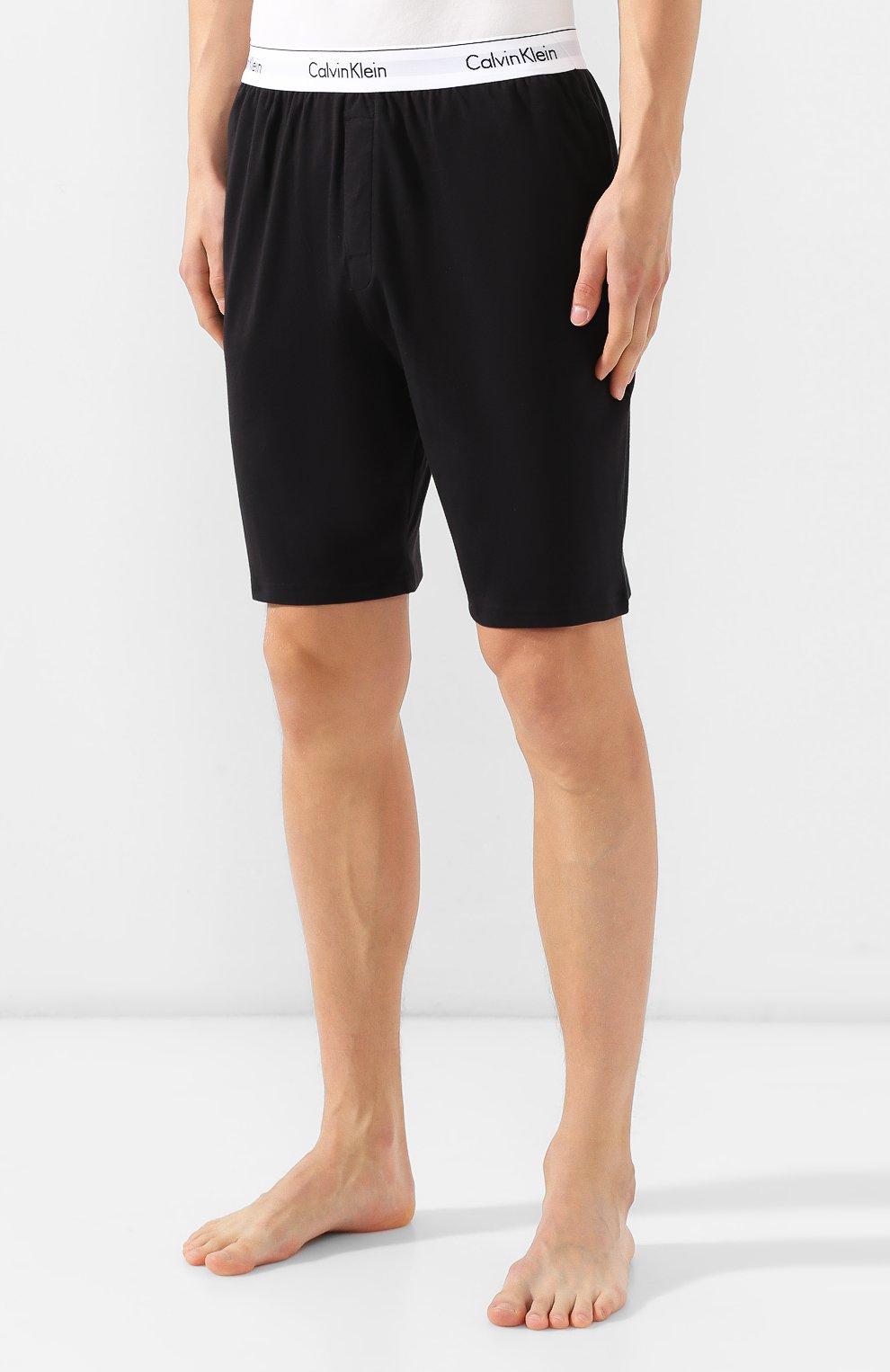 Мужские хлопковые шорты CALVIN KLEIN черного цвета, арт. NM1593E | Фото 3