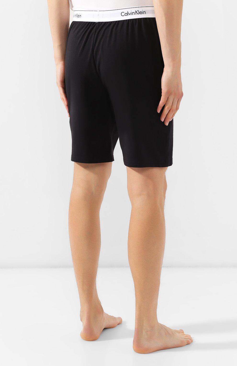 Мужские хлопковые шорты CALVIN KLEIN черного цвета, арт. NM1593E | Фото 4