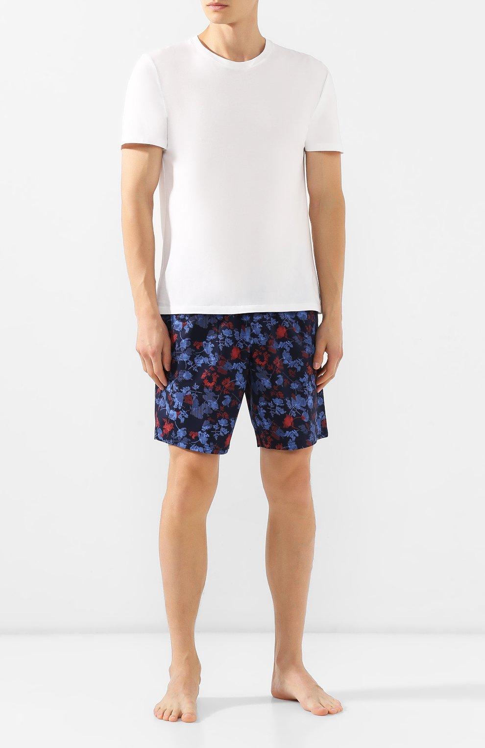 Мужские хлопковые шорты CALVIN KLEIN синего цвета, арт. NM1663E | Фото 2