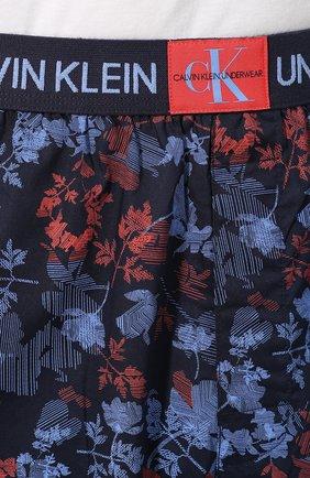 Мужские хлопковые шорты CALVIN KLEIN синего цвета, арт. NM1663E | Фото 5