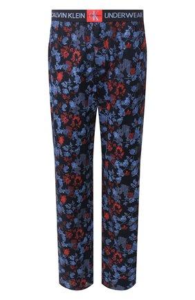 Мужские хлопковые брюки CALVIN KLEIN синего цвета, арт. NM1664E | Фото 1