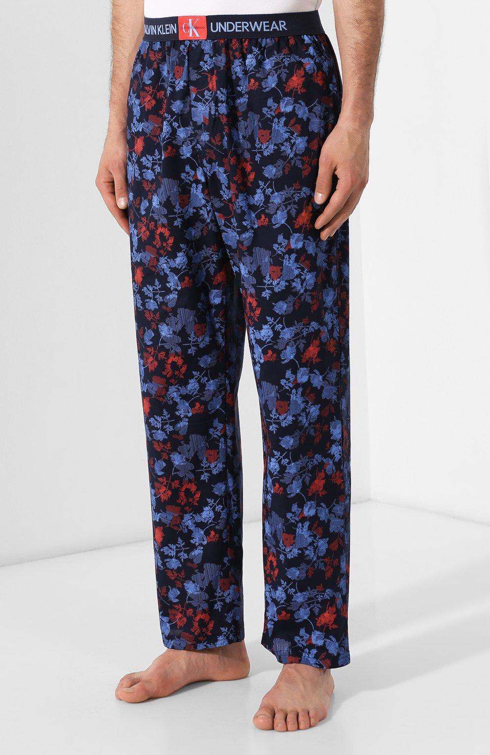 Мужские хлопковые брюки CALVIN KLEIN синего цвета, арт. NM1664E | Фото 3