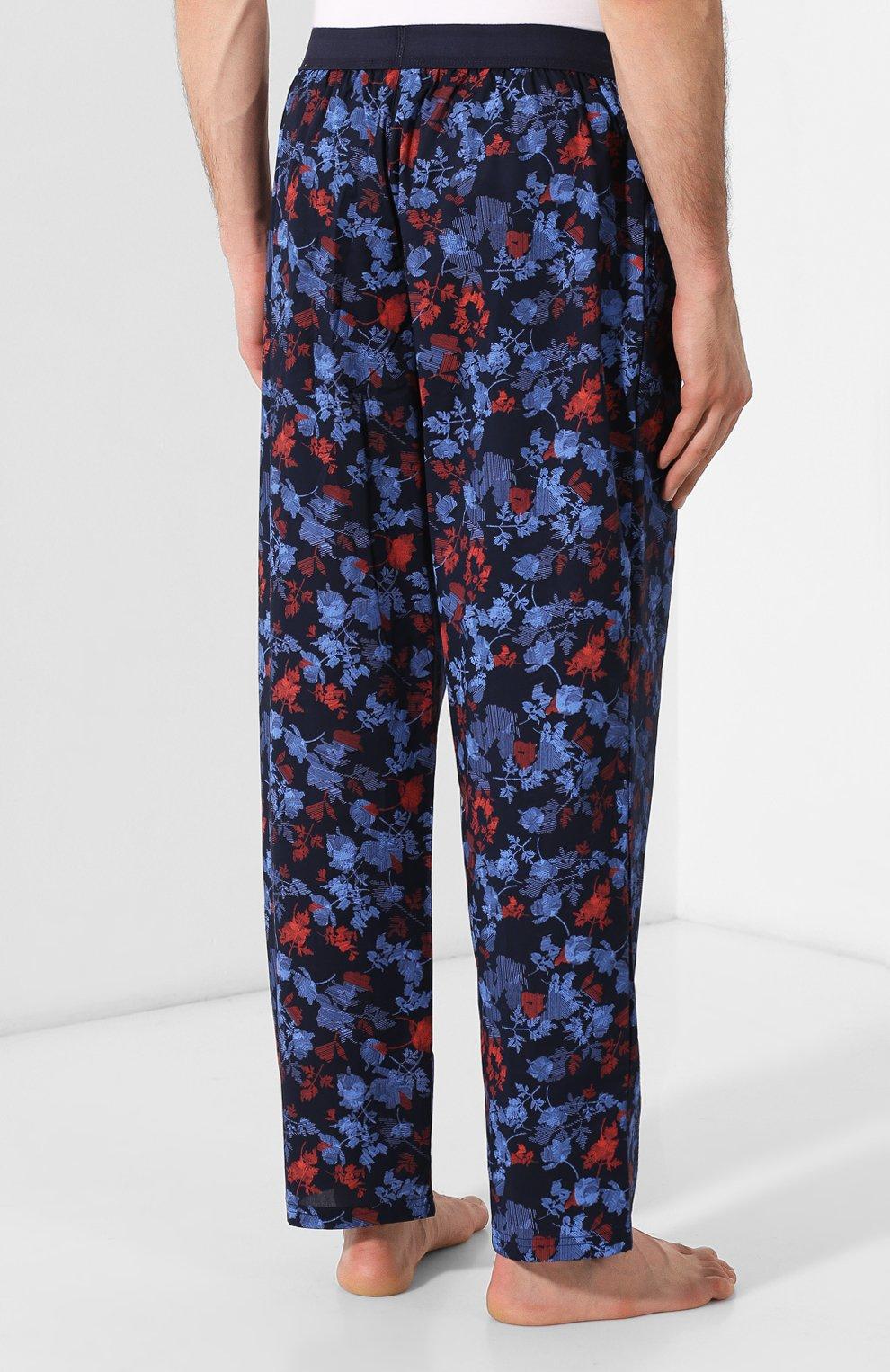 Мужские хлопковые брюки CALVIN KLEIN синего цвета, арт. NM1664E | Фото 4