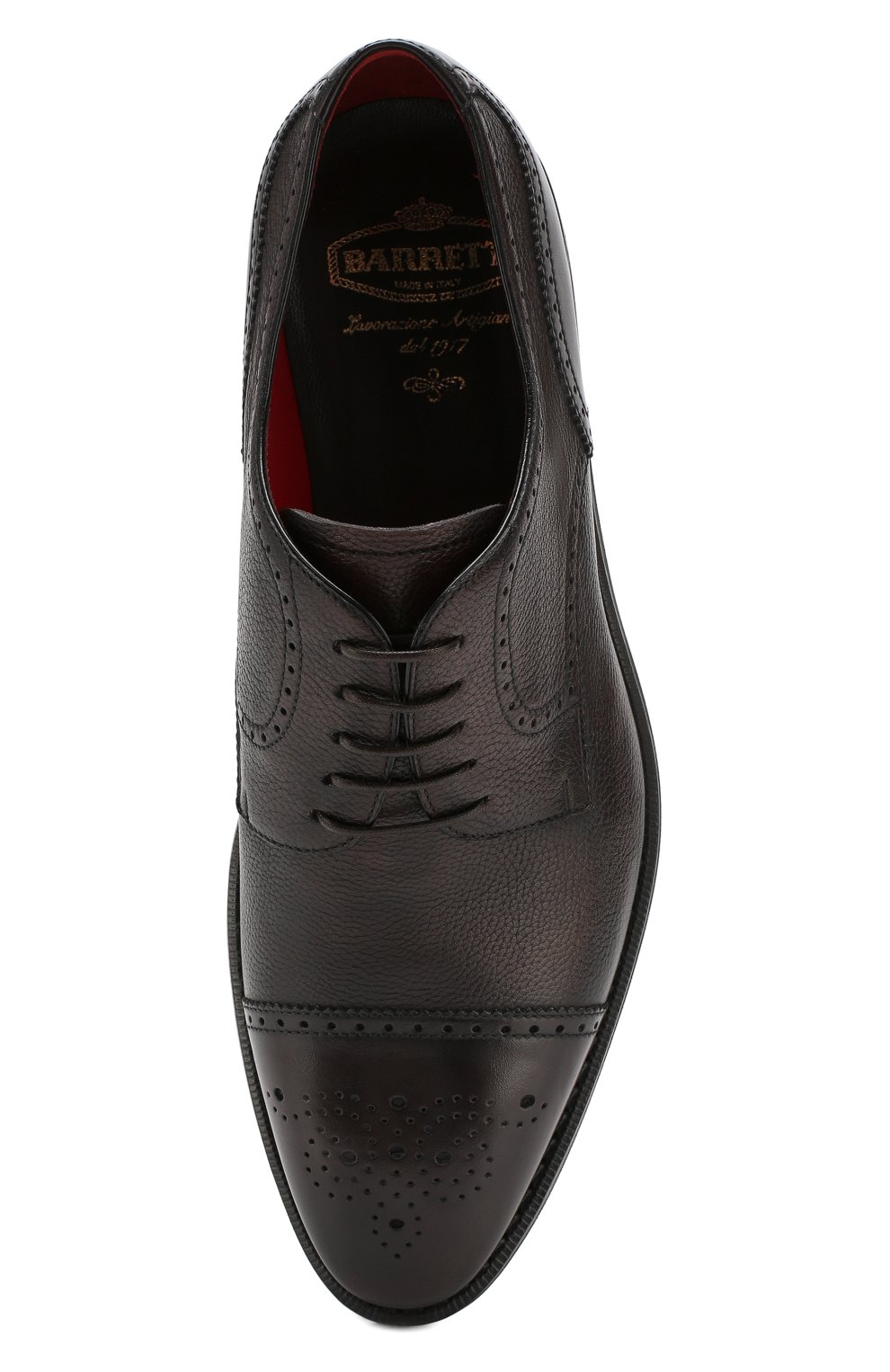 Мужские кожаные дерби BARRETT темно-коричневого цвета, арт. 162U018.2/NEW B0X | Фото 5