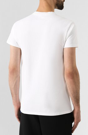 Мужская хлопковая футболка HELMUT LANG белого цвета, арт. J04DM502 | Фото 4