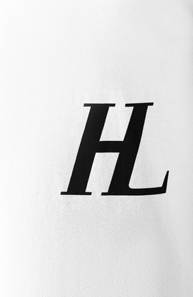 Мужская хлопковая футболка HELMUT LANG белого цвета, арт. J04DM502 | Фото 5
