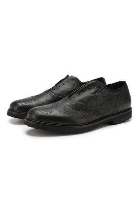 Мужские кожаные оксфорды ROCCO P. черного цвета, арт. 7019X/BISH0ND0 | Фото 1