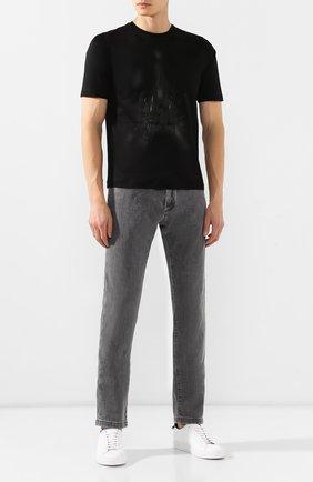 Мужская хлопковая футболка ZILLI темно-серого цвета, арт. MES-NT220-FIRE1/MC01 | Фото 2