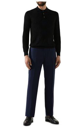 Мужской шерстяные брюки ZILLI темно-синего цвета, арт. M0S-40-38N-B6406/0001 | Фото 2