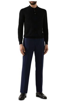 Мужские шерстяные брюки ZILLI темно-синего цвета, арт. M0S-40-38N-B6406/0001   Фото 2