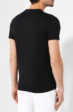 Мужская хлопковая футболка DSQUARED2 черного цвета, арт. S71GD0802/S22844 | Фото 4